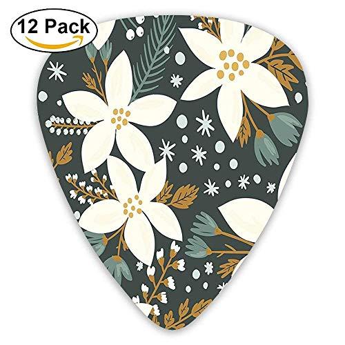 a Flowers Garden Blossoms Hawaiian Inspired Art Print Guitar Picks 12/Pack ()