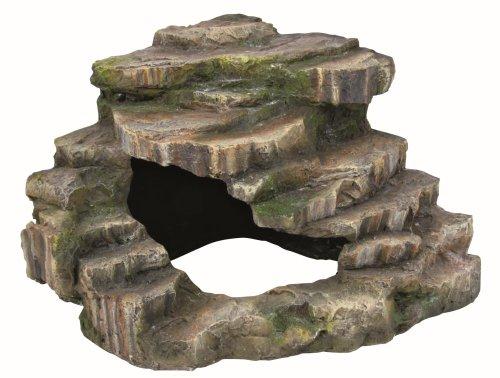 Trixie 76196 Eck-Felsen, mit Höhle und Plattform, 26 × 20 × 26 cm
