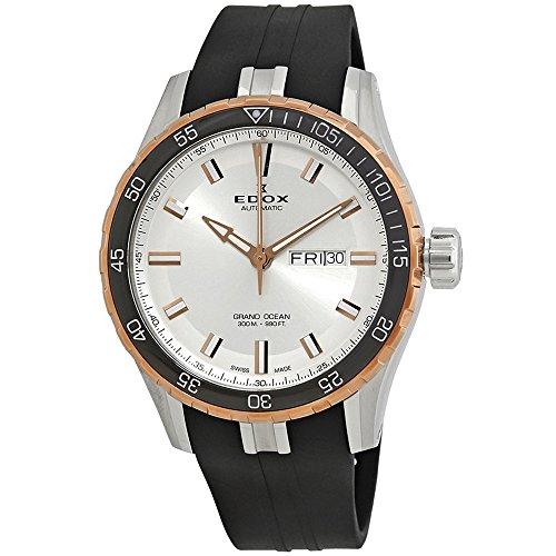 Edox Men's Grand Ocean 45mm Black Rubber Band Automatic Watch 88002 357RCA AIR