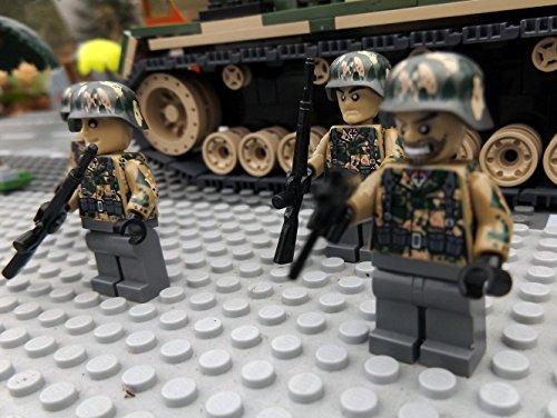 Modbrix 9919 – ✠ 2 Stück Custom Minifiguren STURMPIONIERE Deutsche Wehrmacht Soldaten aus original Lego® Teilen ✠ - 2