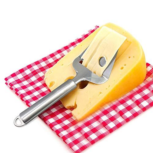 Slicer-board (Cheese Slicers - Stainless Steel Cheese Slicer Butter Ham Planer Cake Shovel - More Board Block Soft Heavy Marble Cheese Wire Duty Slicers Hard Cheese Slicers Cutter Butter Lora Knife Slicer Cake)