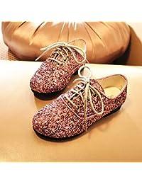 b2bdc30f6 Hukangyu1231 Zapatos de Princesa Lentejuelas Doradas y Plateadas Zapatos  para niñas Zapatos Casuales Zapatos de Fiesta