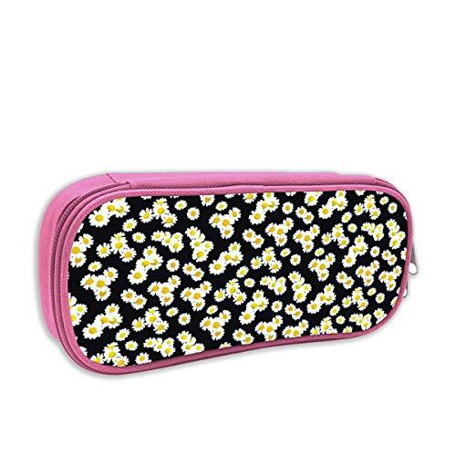 harry wang Federmäppchen für Kinder mädchen,Igel mit Blättern und Blumen auf hellem Mauve_806, pingk 806 Oxford
