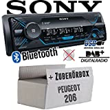 Peugeot 206 - Autoradio Radio Sony DSX-A510BD - DAB+ | Bluetooth | MP3/USB - Einbauzubehör - Einbauset