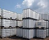 1000 Liter IBC Container Regentonne Wasserfass Tank Weiß NEU Lebensmittelecht