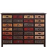 BUTLERS Moriani Sideboard - Kommode Vintage - Apothekerschrank mit 28 Schubladen - Holz bunt lackiert - Unikat - 143 x 40 x 106 cm
