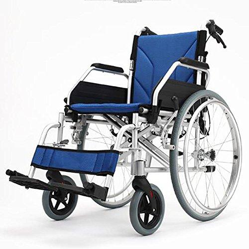 GUO Aluminium-Legierung Falt-Trolley Behinderte Behinderte Erweiterung Portable Rollstuhl (Falt-rollstuhl)