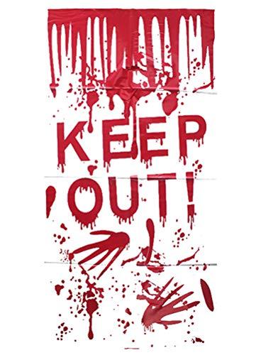 Terror Night Kostüm - Ning Night Halloween Terror Banner Dekoration Tür Poster Schädel Gespenst Toilette Tür Wandaufkleber Türaufkleber Fensteraufkleber,A