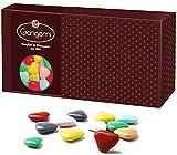 Gangemi Cuoricini - 1kg Coeurs Dragées Chocolat de haute qualité - Classique cadeau italien de mariage bapteme - Couleurs mélangées