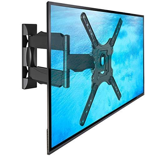 NB P4 - Supporto TV da parete, girevole di alta qualità per schermi TV LCD LED e PLASMA 81-140 cm/ 32 '-55' con  peso max. fino a 31,8 kg, ISO TUV GS