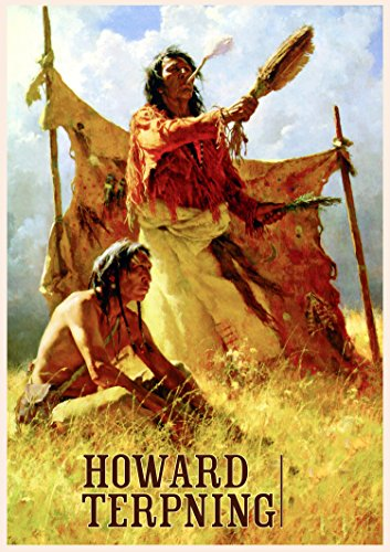 Calendrier mural 2018 [12 pages 20x30cm] Native American Indian Wild West by Howard Terpning Vintage Art affiche [Calendar]