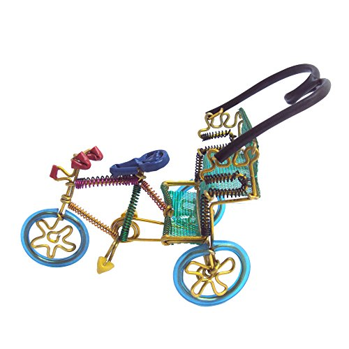 EtsiBitsi Aluminium Wire Cycle Rickshaw Showpiece