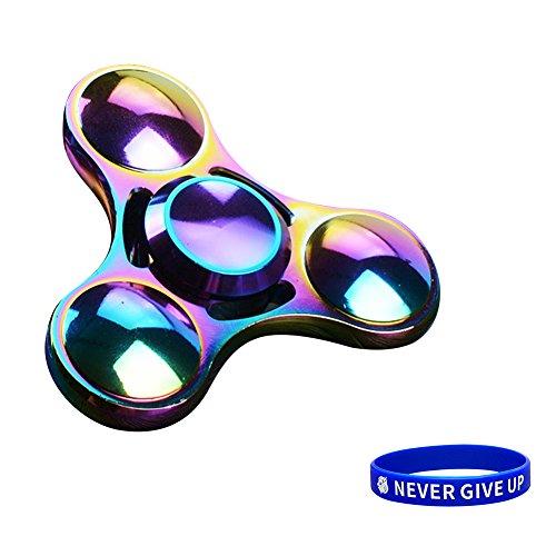 Produktbild SWAMPLAND Tri-Spinner Fidget Aluminium Hand Spielzeug Stress Reducer - ideal für Töten Langeweile Zeit Erwachsene Kinder Spielzeug