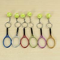 Preisvergleich für KUNSE Multi-Color Sport Tennis Ball Schläger Schlüsselanhänger Sammlerstücke Schlüsselanhänger-Green