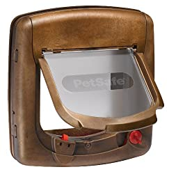 Petsafe Staywell, Deluxe Magnetic Cat Flap, Wood Grain, Selective Entry, 4 Way Locking