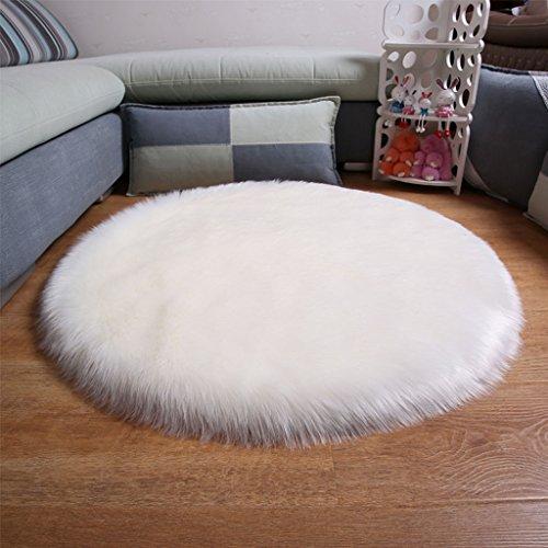 JIANMING Teppiche Modern Minimalist, Nachttisch, Oval, Schlafzimmer  Couchtisch Wohnzimmer, Stühle, Hängekörbe, Kunstwolle, Fußmatten (größe :  90cm*90cm)