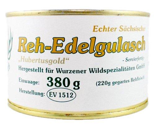 Reh-Edelgulasch mit Rotwein und Stockschwämmchen - Wild servierfertig - 380 GR