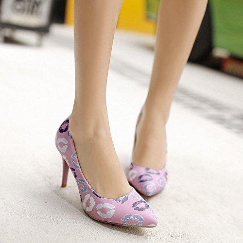 Mee Shoes Damen süß spitz Geschlossen high heels Pumps Lila