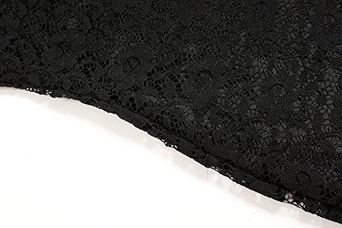 ZEARO 2016 Sexy Robe Gilet Tee-shirt Robe Crayon Bodycon Sans Manche Avec Dentelle A Fleurs Midi Casual/Soirée Noir