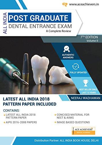 All India Post Graduate Dental Entrance Examination 7th edition Vol -2 2018