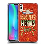 Head Case Designs Superheroes 8 Bit Inspirationen Soft Gel Hülle für Huawei Honor 8C