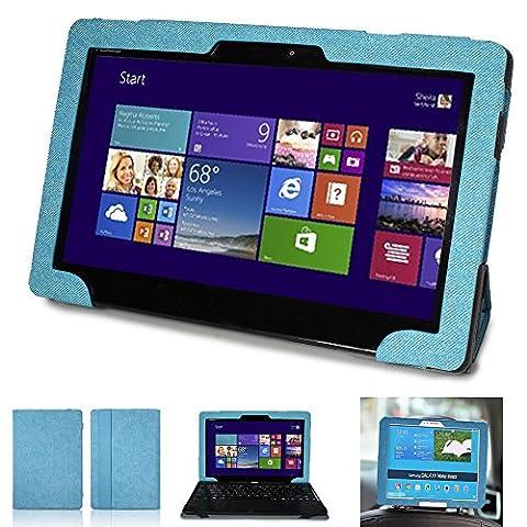 Mulbess - Asus Transformer Book T100TA Tablet CleverStrap Cover Étui Housse de Transport avec Support pour Asus Transformer Book T100 Couleur Bleu