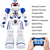 OYRGCIK Remote Control Robots For Kids, Gesture Sensing Wireless RC Smart Robot With LED Light, Singing, Dancing, Walking, Speaking, Teaching Science Children Toys For Boys Girls Teens