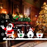 Tuopuda Natale Muro Adesivi Home Decor Natale Babbo Natale Finestra Vetro Decorativo Parete Decalcomania (Babbo Natale)