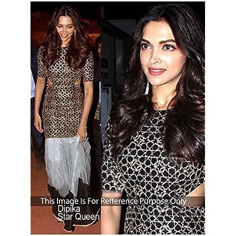DaFacioun Designer Blace, Golden MOSS VELVET Bollywood Replica Dress. T1101