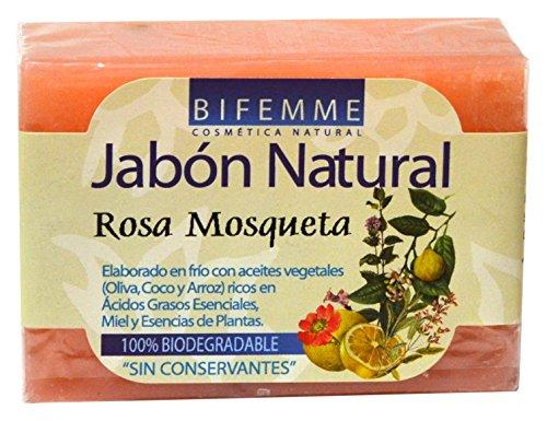 Bifemme - Jabón de rosa mosqueta 100 gr, Pack de 4