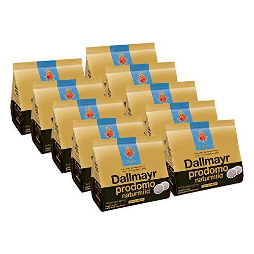 Dallmayr Prodomo Natur Mild Kaffeepads, für alle Pad Maschinen, Röstkaffee, Sanft, 160 Pads, á 7...