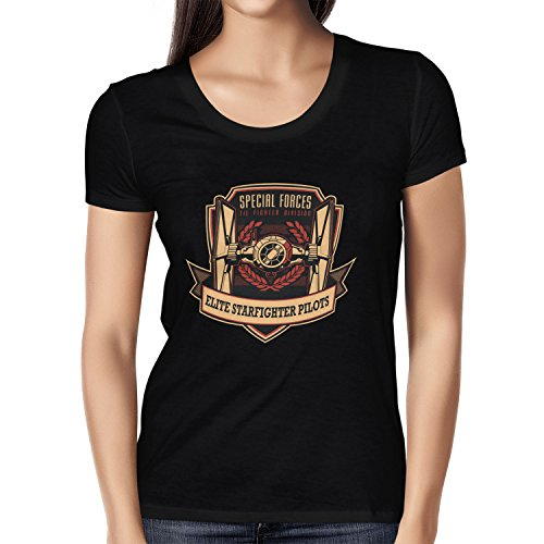 TEXLAB - Elite Starfighter Pilots - Damen T-Shirt Schwarz