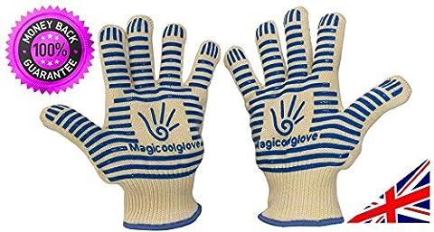 Magicoolglove Mehrzweck-Ofenhandschuhe, hitzebeständig bis 350 °C, schützen Hände und Handgelenke,