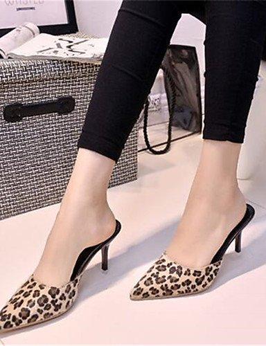 WSS 2016 Chaussures Femme-Habillé / Soirée & Evénement-Léopard-Talon Aiguille-Talons-Talons-Synthétique leopard-us7.5 / eu38 / uk5.5 / cn38