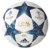 adidas Erwachsene Finale Cardiff Fußball, White/Mystery Blue S17/Cyan S09, 5