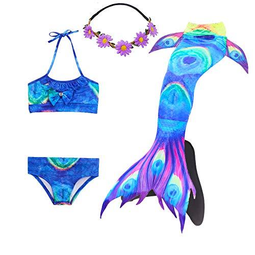COZY HUT Mädchen Meerjungfrauen Tankini Bikini Set