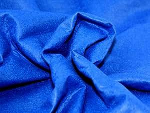 182,9cm Large laine/Viscose Artisanat Tissu Feutre Bleu Royal–par mètre