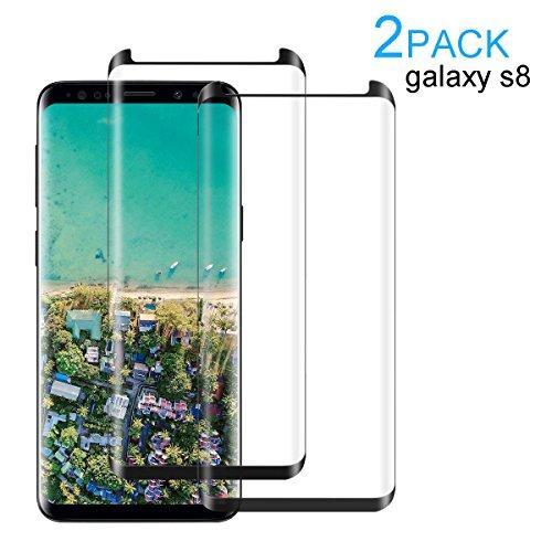 Samsung Galaxy S9/ S9 Plus panzerglas,Displayschutz panzerfolie Schirmschutz für Samsung-Galaxie S9/ S9 Plus Premium Gehärtetem Glas Vollständige Abdeckung (Schwarze Grenze, Samsung Galaxy S9)