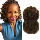 Tight Afro Kinky 100% cheveux humains, idéal pour faire des Dreadlocks et Twists 4 Bundles / Package (16 pouces /40,64 cm,Medium Ash Brown #8)