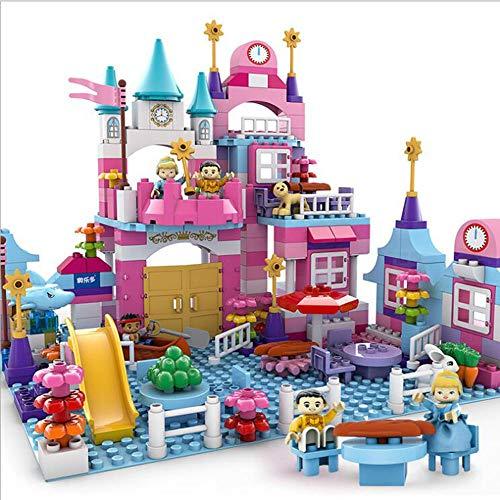 Kinder Und Mädchen Prinzessin Bausteine Lego Schloss Rosa Serie Puzzle Montage Spielzeug,Pink