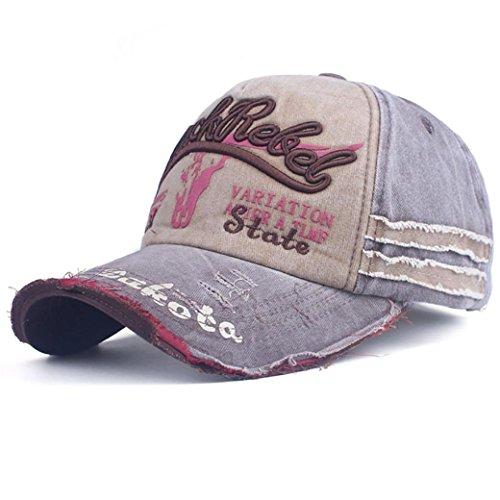 Hip Hop Baseball Cap Herren Damen,❤️Absolute Männer Frauen Gestickte Brief Snapback Sommer Neue Baseballmütze Outdoor Kappen Mode Zufällige Hüte Sport Läuft Sonnenhüte (Grau)