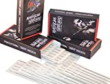 American Standard Body Tattoo Needles, For Lining & Shading, Round Liner Rl, Round Shader Rs, Magnum M1/Mg, Flat Fl,(5Fl, Regular Flat)