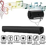 Soundbar PC Lautsprecher, 40cm Wired USB Computer Lautsprecher mit Mikrofoneingang und Kopfhörerausgang, umfassender Kompatibilität für 3,5 mm Aux-in Verbindung Desktops, TV, Laptops, Tablets, Handy