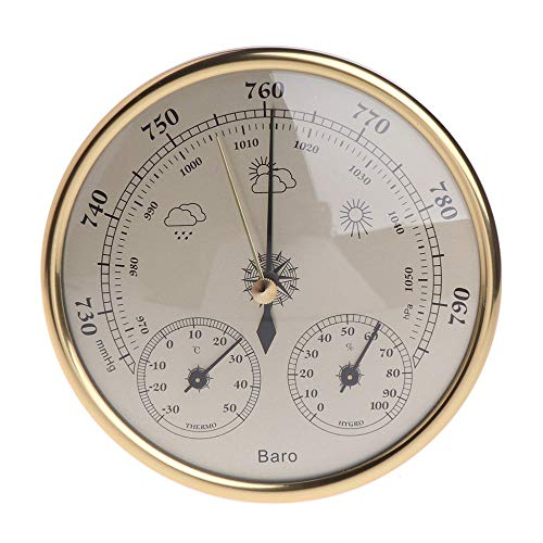 XLTWKK Barometro da Parete per casa termometro igrometro meteorologico A