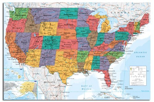 usa-united-states-map-wall-chart-poster-915-x-61cms-36-x-24-inches