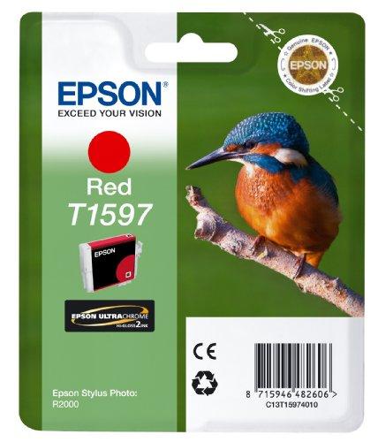 Epson T1597 Cartouche d'encre d'origine pour Stylus Photo R2000 Rouge