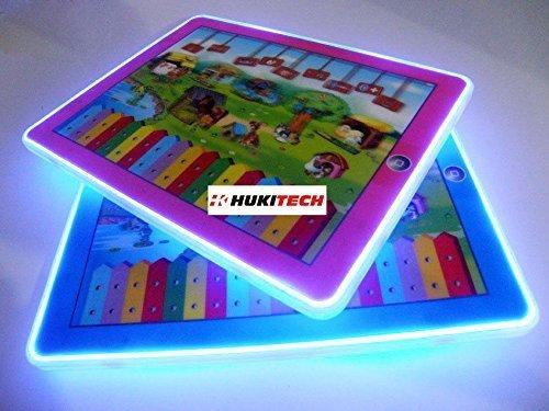 PREMIUM Interaktives 3D Tablet für Kinder - Sounds & LED Beleuchtung - Lerntablet Spieltablet Lerncomputer mit hohem Spaßfaktor wie Kroko Doc