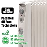Dimplex OFRC20TiN 2 KW Oil Free Radiator with Timer