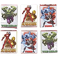 Marvel Avengers 6 x 24 Stickers Featuring Thor, Iron Man & The Hulk Age 3+