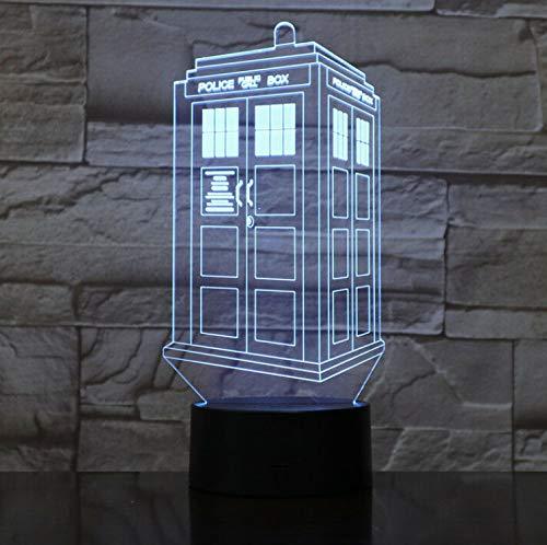 3D Led Knight Licht Licht Polizei Boxen Tardis Licht Für Kinder Schlafzimmer Kiosk Telefon Kiosk Callbox 3D Lampe Arzt Anteil